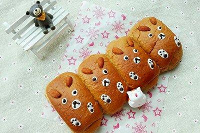 呆萌熊全麦红糖面包