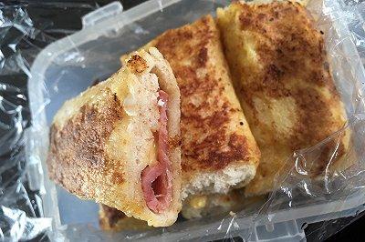 培根芝士面包卷