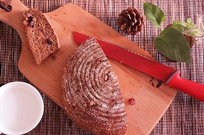 芝心蔓越莓全麦面包