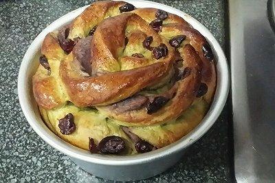 抹茶红豆沙面包
