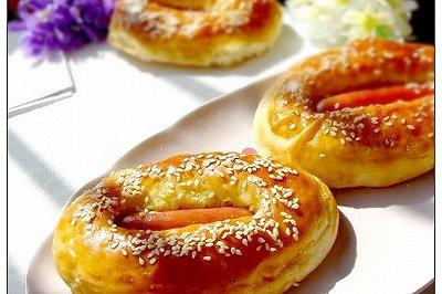 芝麻肠仔面包