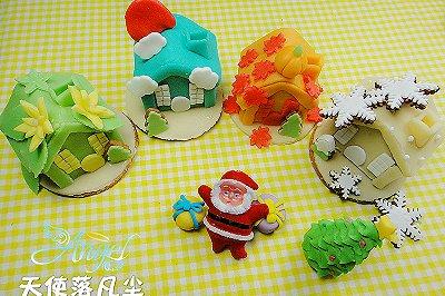 圣诞翻糖姜饼屋