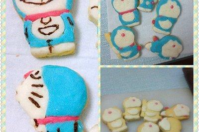 巧克力翻糖哆啦A梦饼