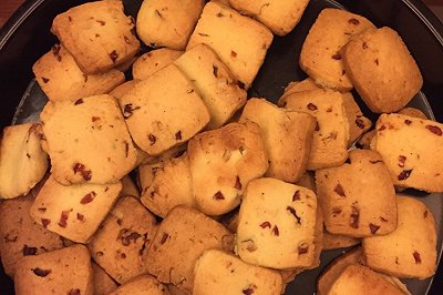 蔓越莓三色曲奇饼干