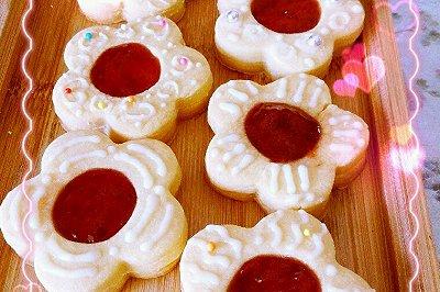 草莓酱曲奇与diy奶油