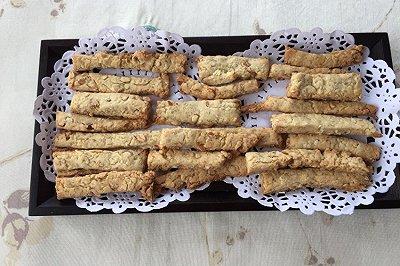 枫糖浆杏仁饼干条
