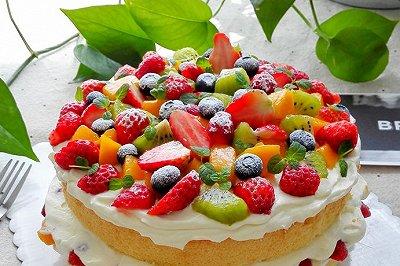 水果奶油裸蛋糕(八寸