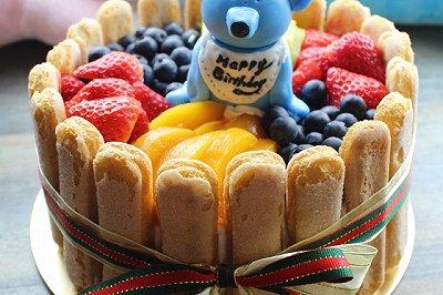 水果戚风生日蛋糕