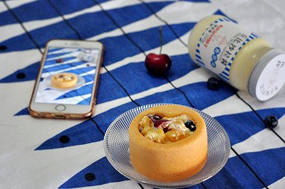 水果沙拉蛋糕杯