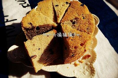 6寸蜜红豆戚风蛋糕