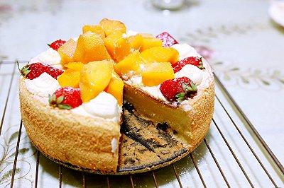 黑加仑水果戚风裸蛋糕