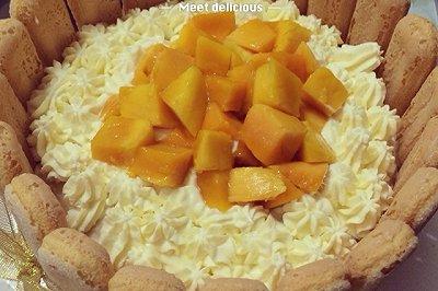 芒果戚风生日蛋糕