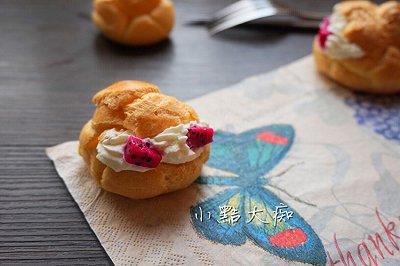 火龙果奶油泡芙