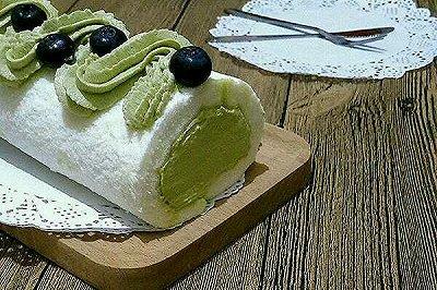 天使蛋糕卷(抹茶奶油