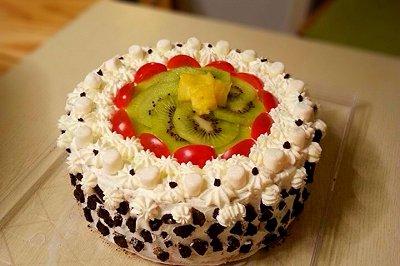 生日裱花水果蛋糕