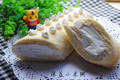 戚风奶油蛋糕卷
