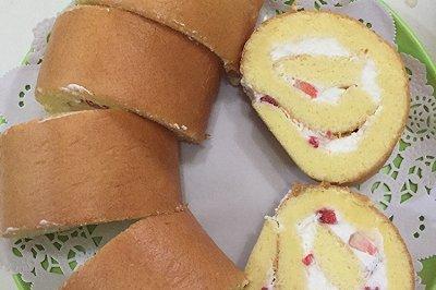 奶油水果蛋糕卷