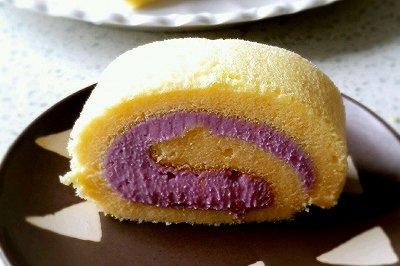 紫薯乳酪蛋卷