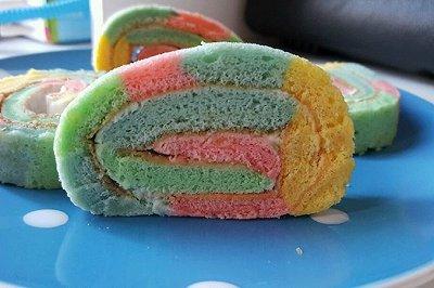 彩虹蛋糕卷(乐葵模)
