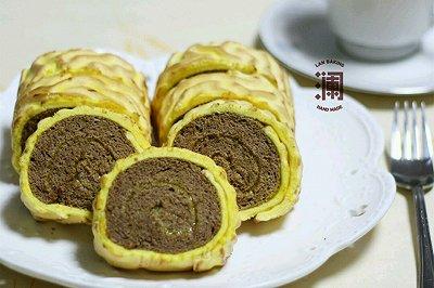 虎皮蛋糕卷(可可果酱