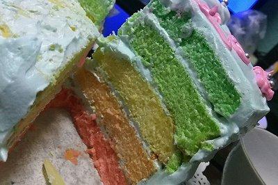 八寸彩虹蛋糕