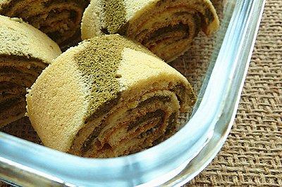 双色蜂蜜蛋糕卷