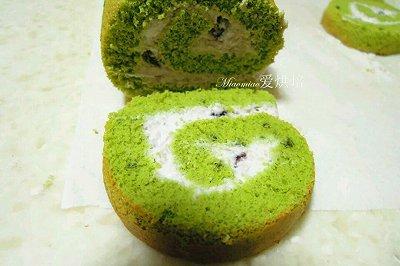 抹茶红豆蛋糕卷(戚风