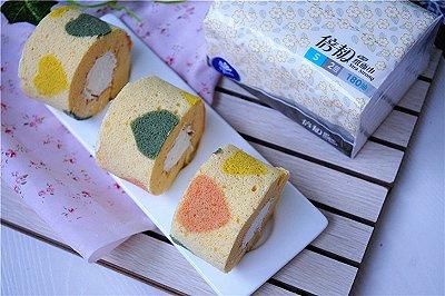 爱意满满的桃心蛋糕卷