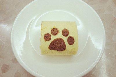 创意小猫小爪绘图蛋糕