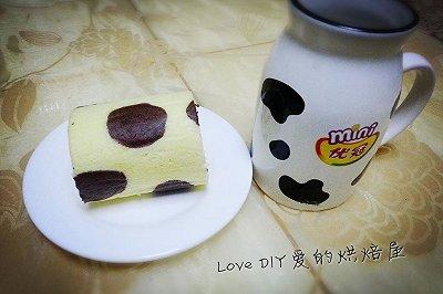 美味松软奶牛蛋糕卷