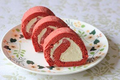 柔润红丝绒蛋糕卷