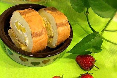 虎纹芒果奶油蛋糕卷