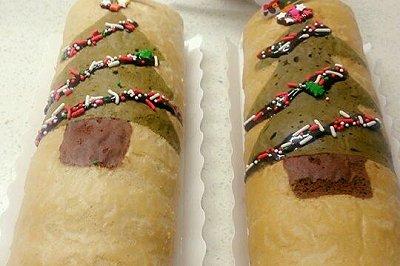 圣诞树蛋糕卷