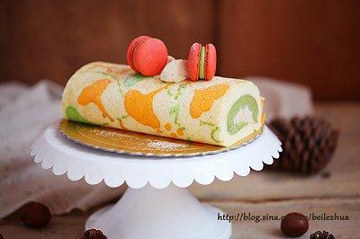 抹茶栗子蛋糕卷