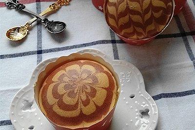红曲拉花纸杯蛋糕