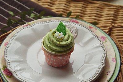 春日抹茶纸杯蛋糕