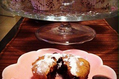 蓝莓可可纸杯蛋糕
